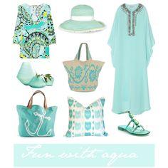 """""""Fun with Aqua"""" by Coastal Style Blog"""