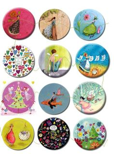 50 mm Planche imprimée papier photo mat pour 12 cabochons MODE 2 : Images digitales pour bijoux par luxe Carta Collage, Collage Sheet, Bottle Cap Projects, Bottle Cap Crafts, Bottle Cap Art, Bottle Cap Images, Crafts To Sell, Diy And Crafts, Paper Crafts