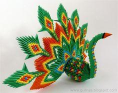 Gulnas' Art Blog: 3D Peacock / modular origami