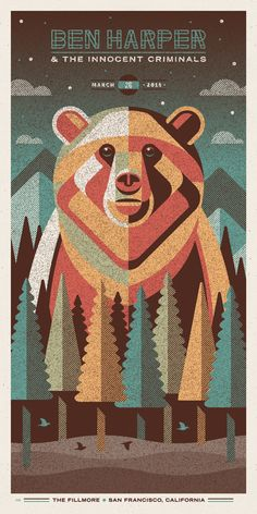 Four New Posters for Ben Harper by DKNG