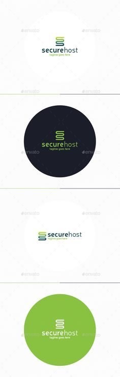 Secure Host Logo — Photoshop PSD #soft #develop • Available here → https://graphicriver.net/item/secure-host-logo/10919385?ref=pxcr