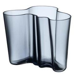 Alvar Aalto váza 160mm Rain (modrá)