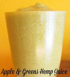 apples greens and hemp seed juice
