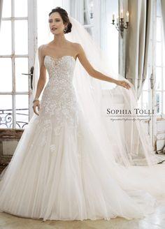 8c906e2172bf 103 Best Options & Accessories | Sophia Tolli images | Chapel train ...