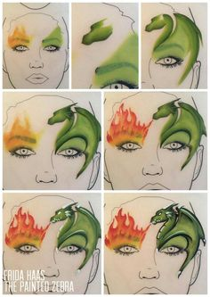 Cool dragon idea. #facepainttutorial