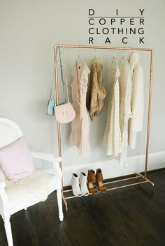 Here is What You Can Do With Copper Pipes | DIY copper pipe clothing rack