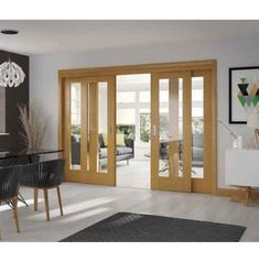 Easi Slide Oak Frame For Sliding French Doors Frame Only April 24 2019 At 01 27pm With Images Interior Sliding French Doors Sliding Doors Interior French Doors Interior