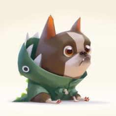 ArtStation - Little doggie dude, Lynn Chen Fantasy Character, Character Concept, Character Art, Character Design Animation, Character Design References, Dog Illustration, Character Illustration, Doodle Art, Chibi