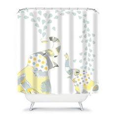 Kids Shower Curtainselephant Shower By OzscapeHomeDecor On Etsy