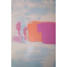 Abstract Painting 24x36 Pink Orange Pastel by JenniferFlanniganart, $350.00