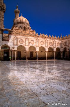 The Sahn (Main Courtyard), al-Azhar Mosque, Cairo, Egypt.