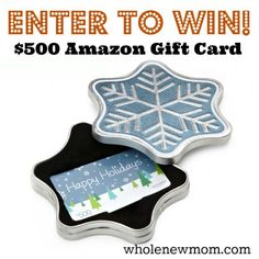 $500 Amazon Gift Card Giveaway!   http://wholenewmom.com/giveaways/amazon-gift-card-giveaway-500-december/