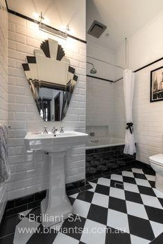 Art Deco Pair of Bathrooms