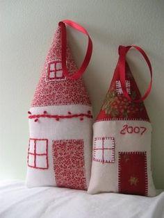 cute little house ornaments