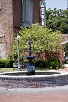 Fountain in Pinehurst Park, Downtown Laurel ~ Laurel, MS