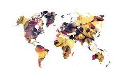 world map 78 yellow