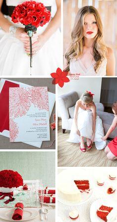 Poppy red wedding