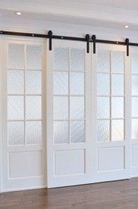 1000 ideas about rail pour porte coulissante on pinterest - Porte coulissante verre castorama ...