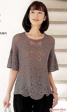Crochet Cardigan, Crochet Yarn, Knit Crochet, Top Pattern, Crochet Clothes, Crochet Projects, Crochet Patterns, Clothes For Women, Knitting