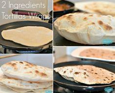 2 Ingredient Tortillas Wraps