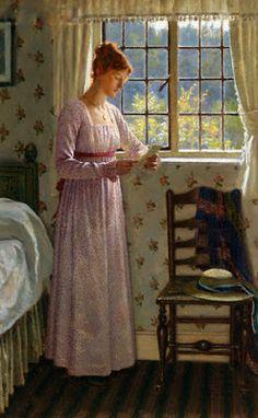 Blair Leighton, Edmund (1852-1922) The letter