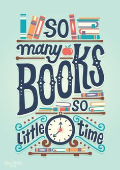 So many books, so little time. - illustration by Risa Rodil