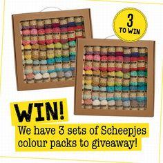 Win a set of Scheepjes new colour packs!