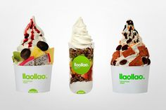 llaollao natural frozen yogurt / Identity by LaNegrita Creative Studio, via Behance
