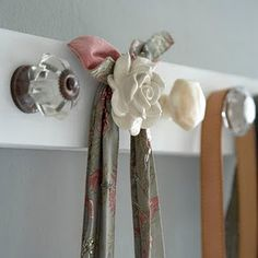 scarf hanger, towel hanger, purse hanger, coat hanger. LOVE.