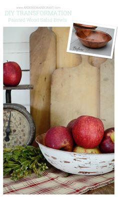 Grandes dicas para um projeto de DIY usando saladeiras de madeira comprados a partir de um brechó |  www.andersonandgrant.com