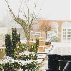 View of our first showroom through the #snow from the comfort of our newest space #interiors #bespoke #stripeinteriors