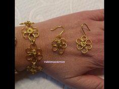 Como hacer pulsera de flores de alambre de aluminio - YouTube Wire Wrapped Jewelry, Wire Jewelry, Jewellery, Jewelry Tools, Jewelry Making, Wire Earrings, Drop Earrings, Simple Life Hacks, Wire Crafts