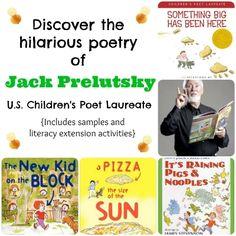 Discover the fun, hilarious kids' poetry by U.S. Children's Poet Laureate Jack Prelutsky! Includes literacy extension activities.