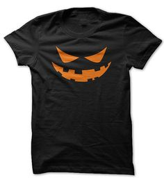 Scary Jack O Lantern Face Halloween Shirt