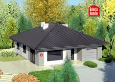 Projekt domu: Dom przy Słonecznej 6 Cottage Style House Plans, Bungalow House Design, Small House Plans, Future House, Gazebo, Shed, Outdoor Structures, Cabin, How To Plan