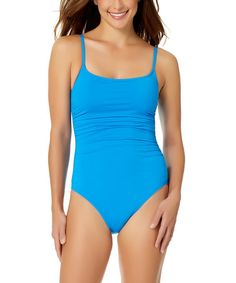 Look what I found on #zulily! Sky Blue Shirred Lingerie Maillot #zulilyfinds