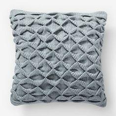 sculpted origami pillow #westelm