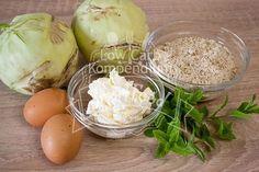 Kohlrabischnitzel mit Frischkäsefüllung Low Carb Zutaten
