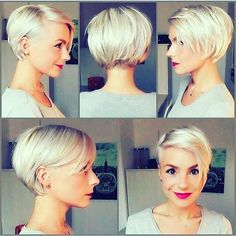 "41 Likes, 11 Comments - Nana (@nbdj_musicluvvaa) on Instagram: ""Super cute! Love this! #shorthair #shorthairstyles #hairgoals #blonde #bobhaircut #bob"""