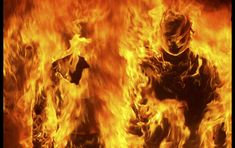 Mannequins burn during riots in the northern Greek town of Thessaloniki December 8, 2008