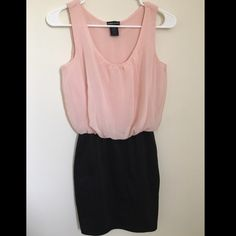 Wet Seal dress Wet Seal dress. Top is blush pink and bottom is black. In good condition. Size XS Wet Seal Dresses Mini
