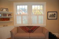 lower plantation shutters for first floor privacy :: window treatments, home decor, decorating, renovation