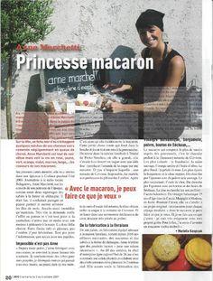 "Journal de la Corse - juillet 2009, ""Anne Marchetti, princesse macaron"""