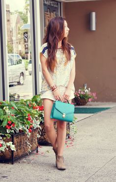 BLOUSE C/O PERSUNMALL, SHORTS (OLD) FROM URBAN OUTFITTERS, PURSE FROM FOREVER 21, BOOTS FROM STEVE MADDEN