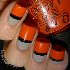 Pinned from www.lovevarnish.com Nail art // 40 Great Nail Art Ideas - Grey