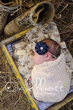 outdoor newborn USMC newborn marine newborn