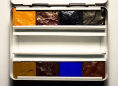 Handmade Artist Watercolour Paint Set Schmincke Half-pan in Metal Pocket Palette Box