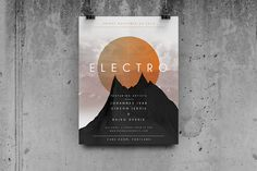 Check out Geometric Concert - Flyer / Poster by Macrochromatic on Creative Market
