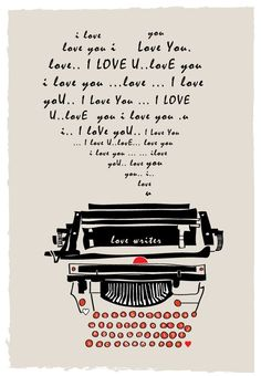 Love writer typewriter/// Too cute