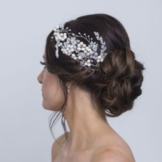 bridal diary is open for Please pm me if any queries or bookings Photo credit to Hair peice Makeup Up Hairstyles, Wedding Hairstyles, Pearl Hair Pins, Circlet, Hair Pieces, Bridal Hair, Swarovski Crystals, Wedding Day, Bespoke